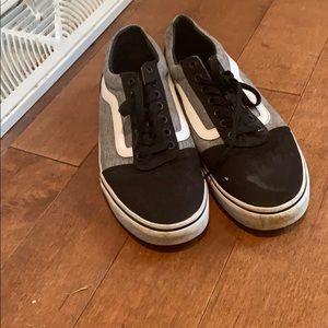 Vans black and grey low old skools